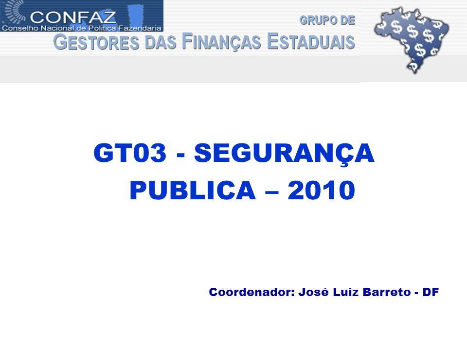 GT03 - SEGURANÇA PUBLICA – 2010