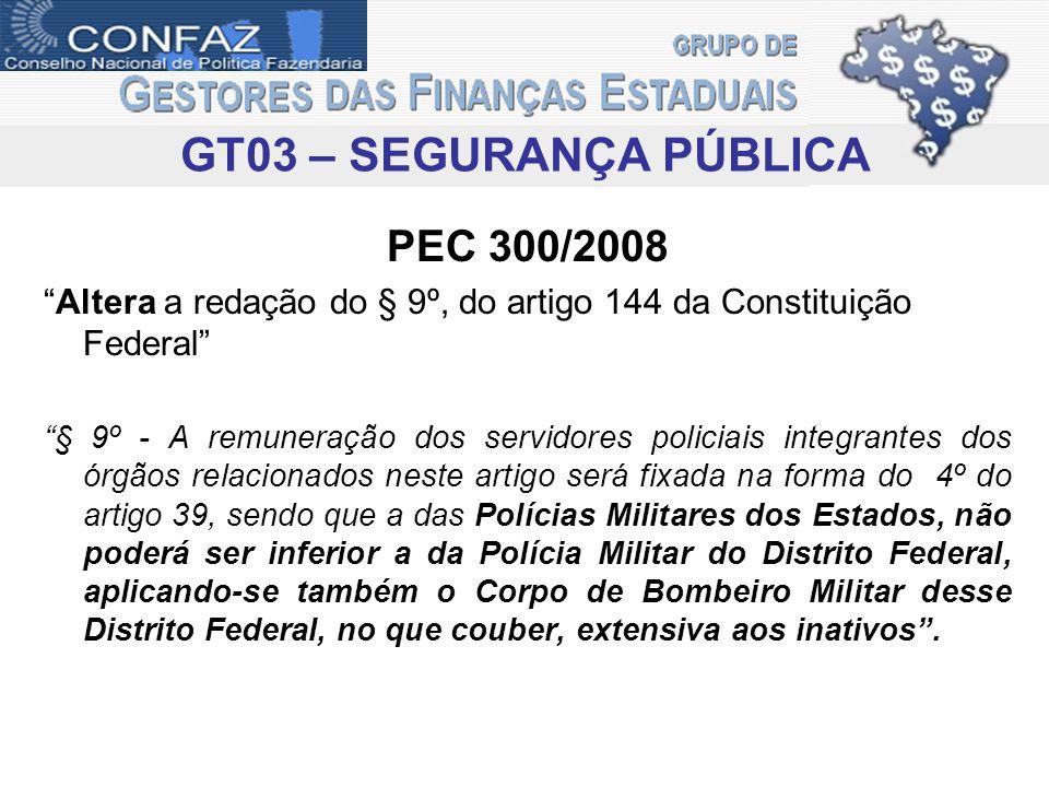 GT03 – SEGURANÇA PÚBLICA PEC 300/2008