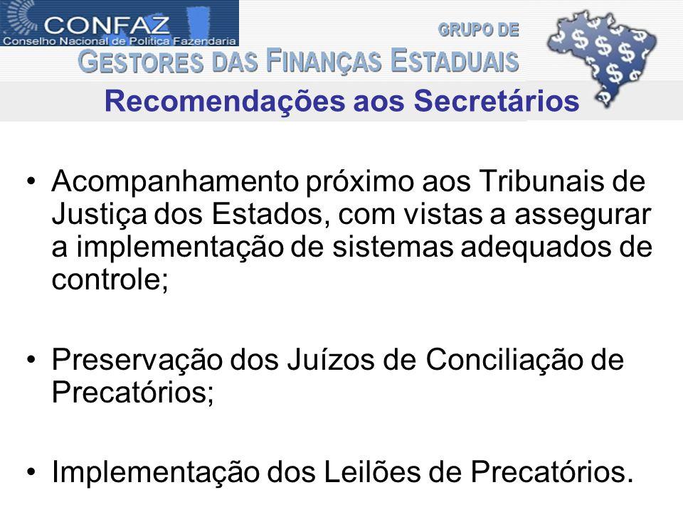 Recomendações aos Secretários