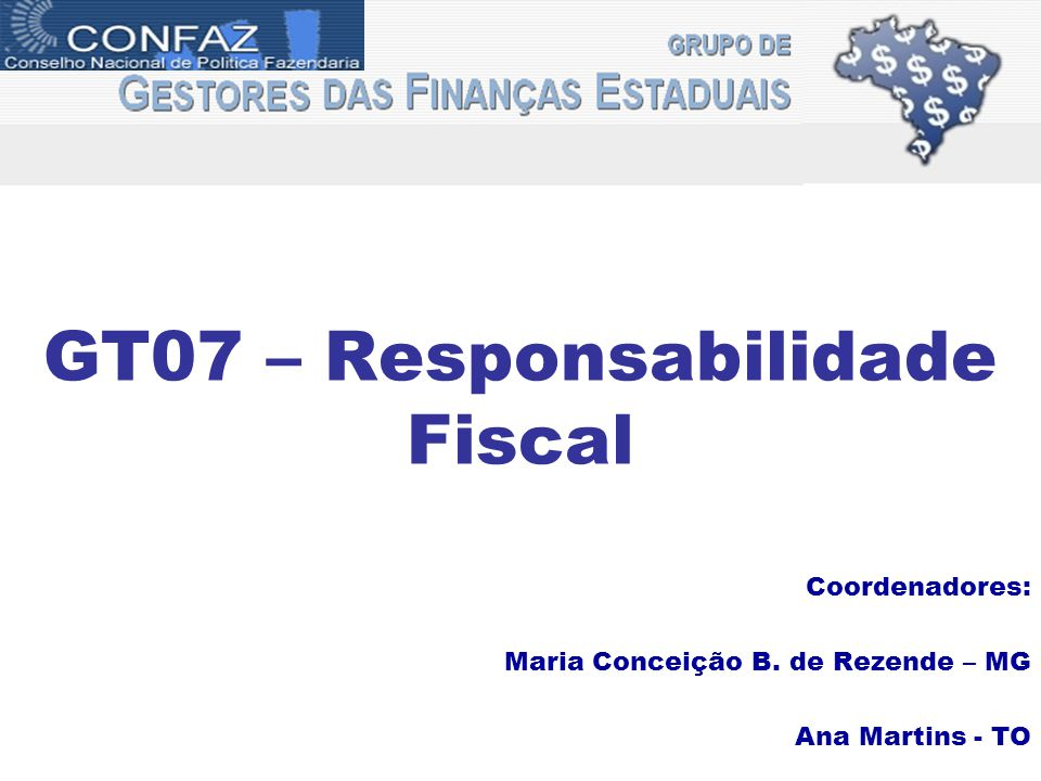 GT07 – Responsabilidade Fiscal