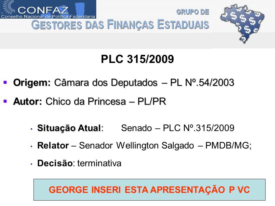 GEORGE INSERI ESTA APRESENTAÇÃO P VC
