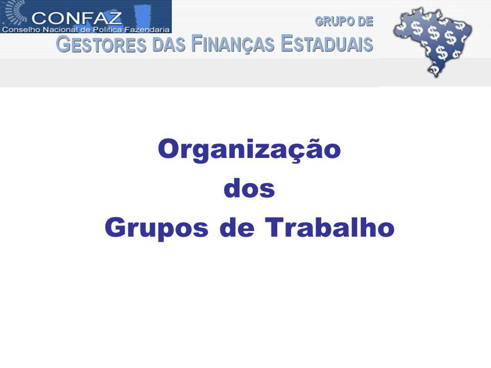 gefin Organização dos Grupos de Trabalho
