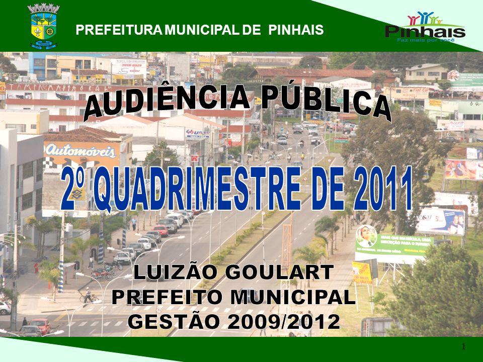 AUDIÊNCIA PÚBLICA 2º QUADRIMESTRE DE 2011 LUIZÃO GOULART