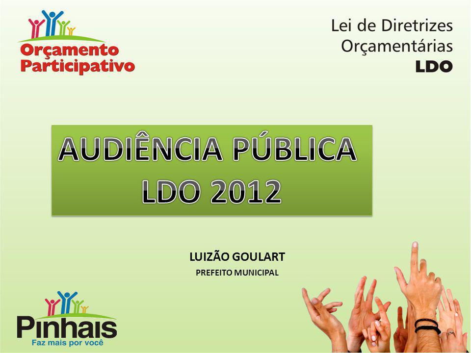 AUDIÊNCIA PÚBLICA LDO 2012 LUIZÃO GOULART PREFEITO MUNICIPAL