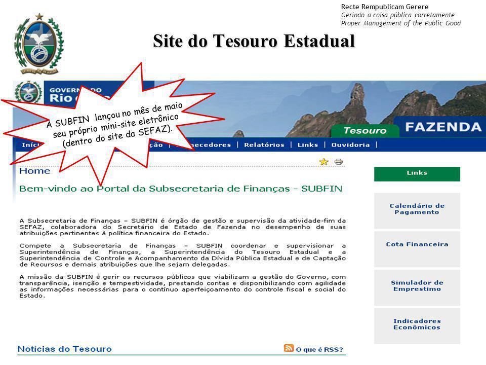 Site do Tesouro Estadual