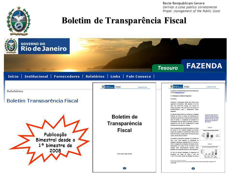 Boletim de Transparência Fiscal