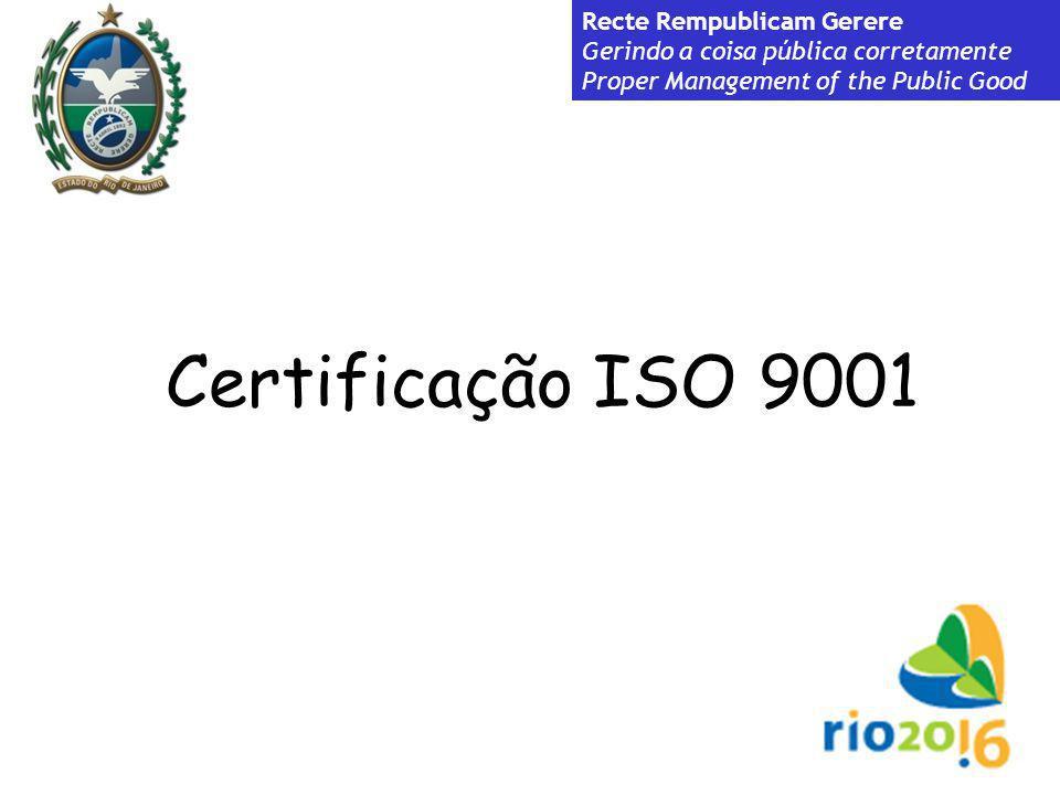 Certificação ISO 9001 Recte Rempublicam Gerere