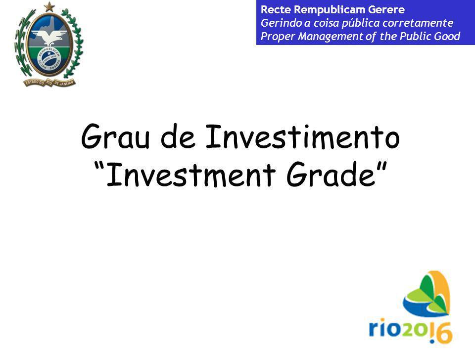 Grau de Investimento Investment Grade Recte Rempublicam Gerere