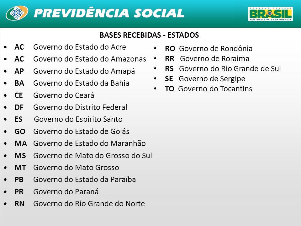BASES RECEBIDAS - ESTADOS