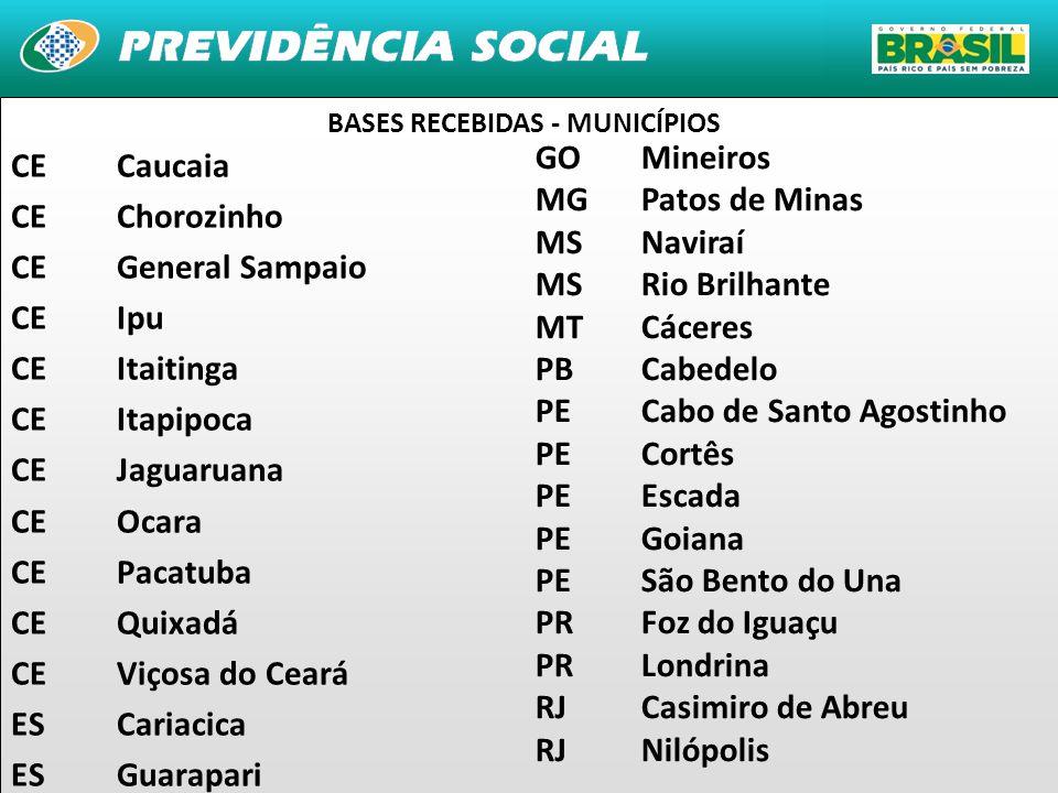 BASES RECEBIDAS - MUNICÍPIOS