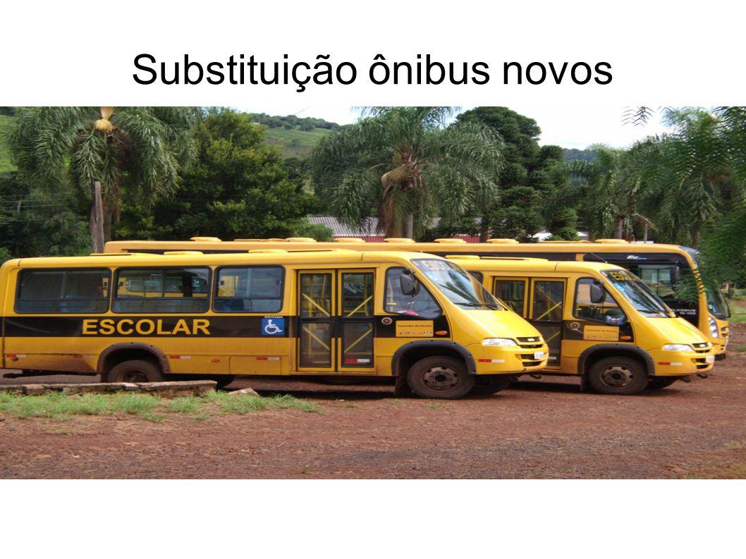 Substituição ônibus novos