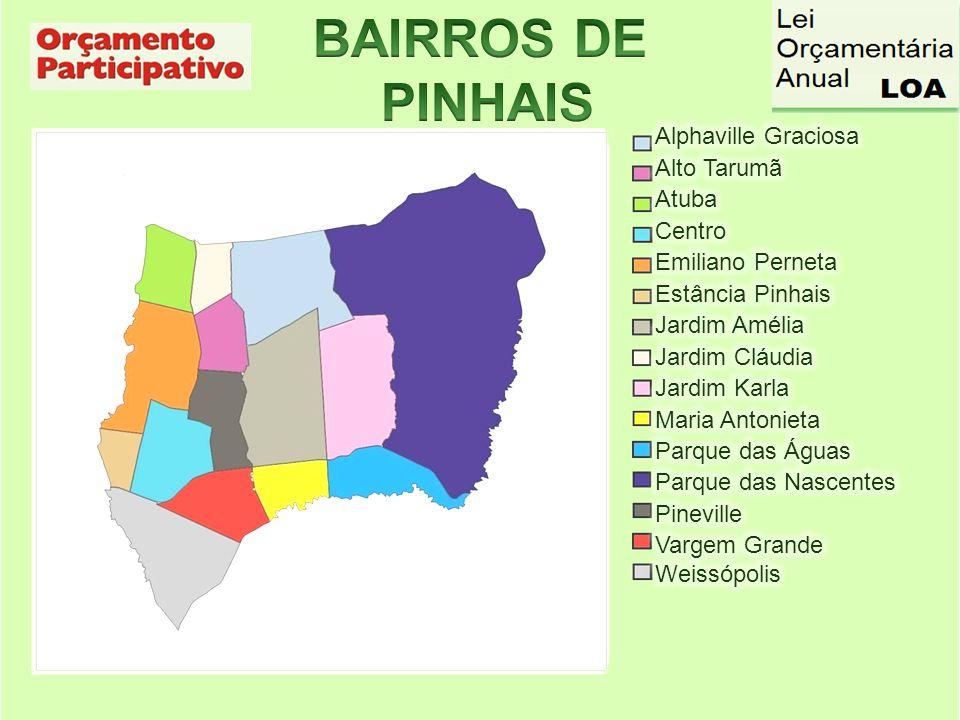 BAIRROS DE PINHAIS Alphaville Graciosa Alto Tarumã Atuba Centro