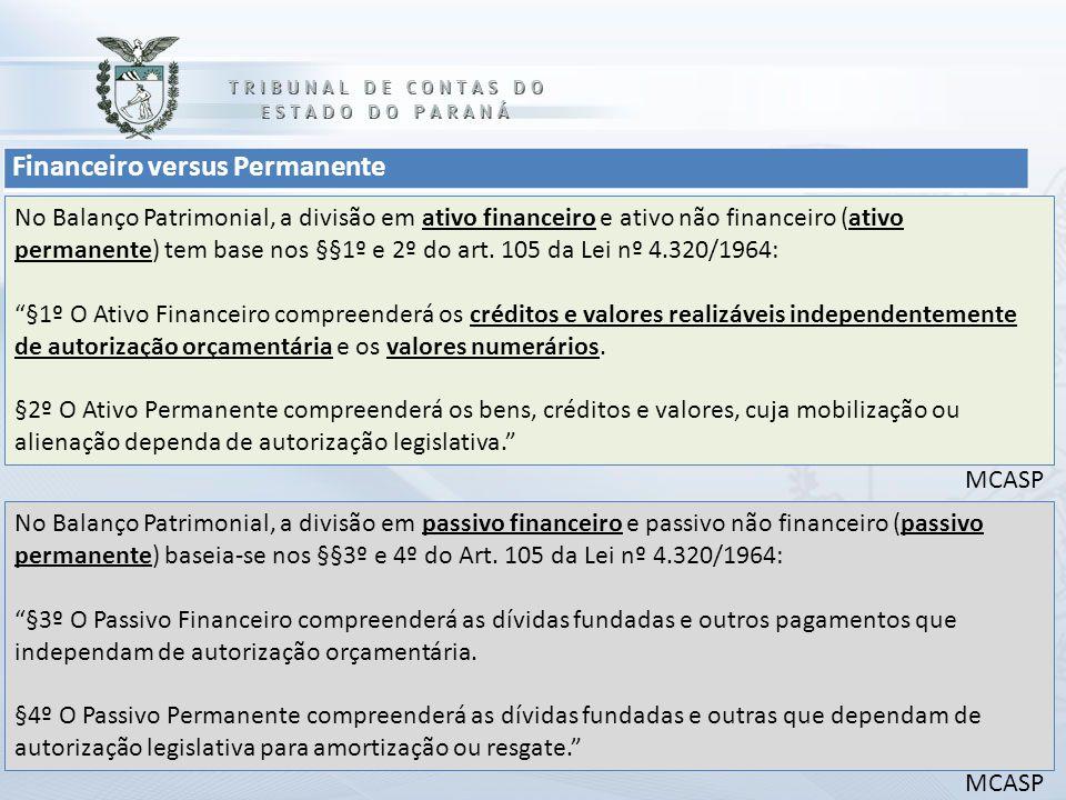 Financeiro versus Permanente