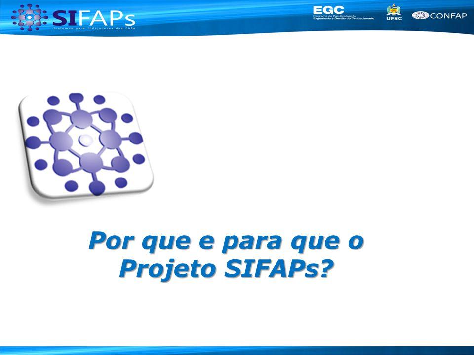 Por que e para que o Projeto SIFAPs