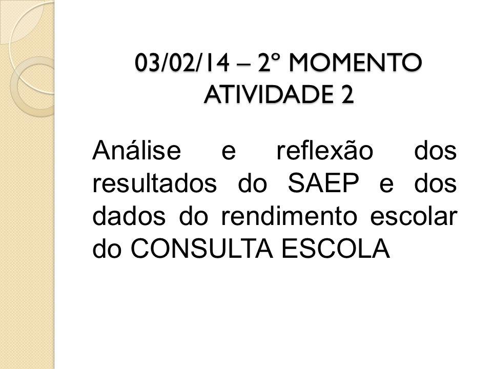 03/02/14 – 2º MOMENTO ATIVIDADE 2