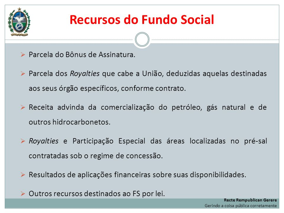 Recursos do Fundo Social