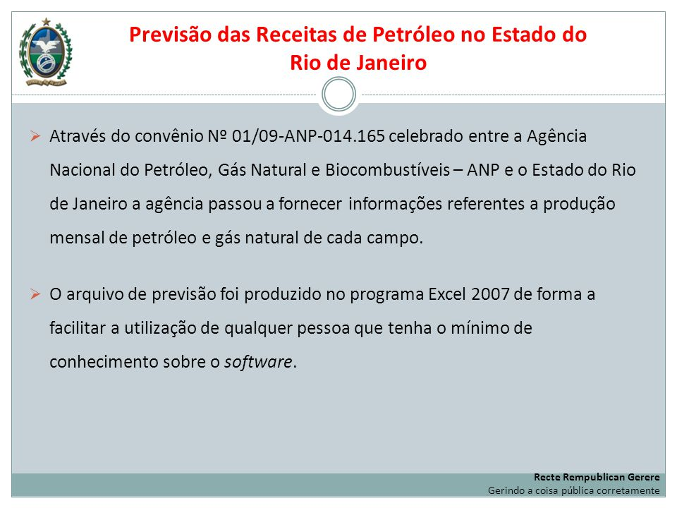Previsão das Receitas de Petróleo no Estado do Rio de Janeiro