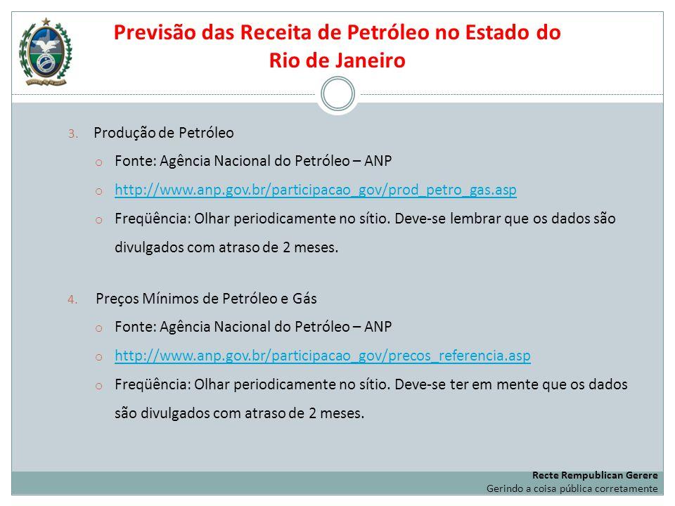 Previsão das Receita de Petróleo no Estado do Rio de Janeiro