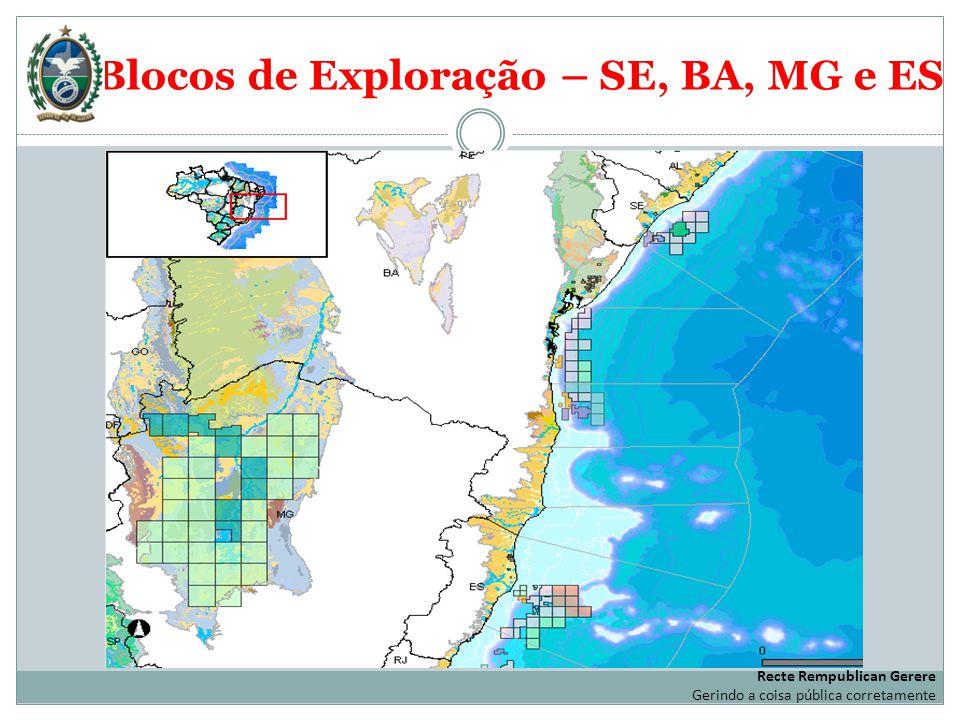Blocos de Exploração – SE, BA, MG e ES