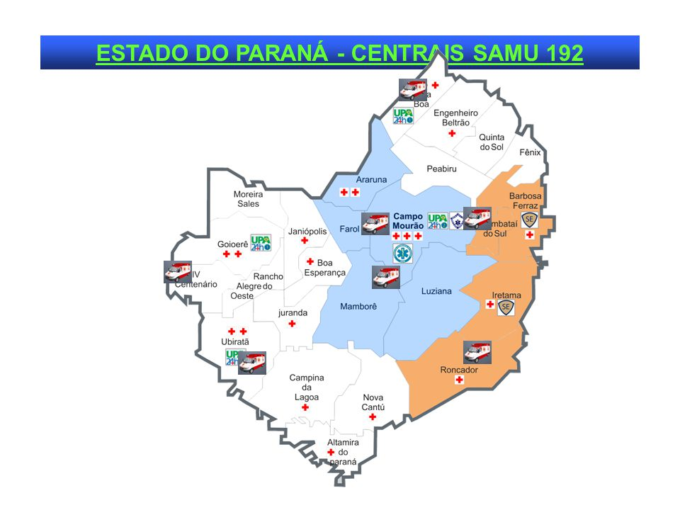 ESTADO DO PARANÁ - CENTRAIS SAMU 192
