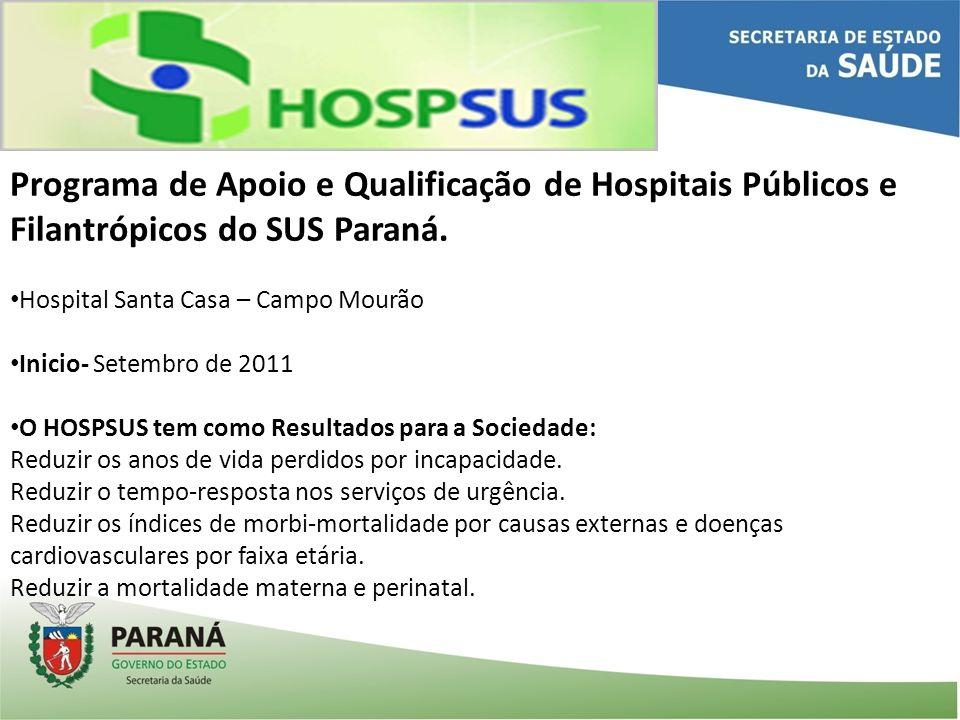Programa de Apoio e Qualificação de Hospitais Públicos e Filantrópicos do SUS Paraná.