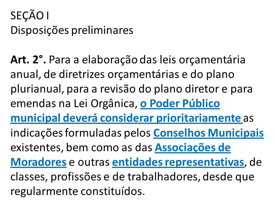 SEÇÃO I Disposições preliminares Art. 2°