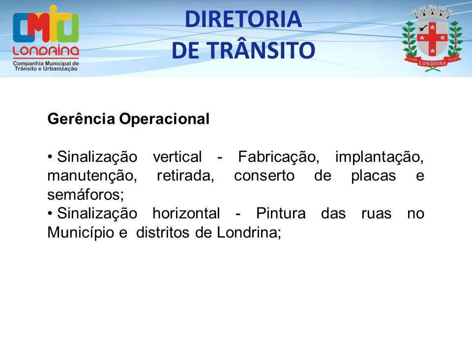 DIRETORIA DE TRÂNSITO Gerência Operacional