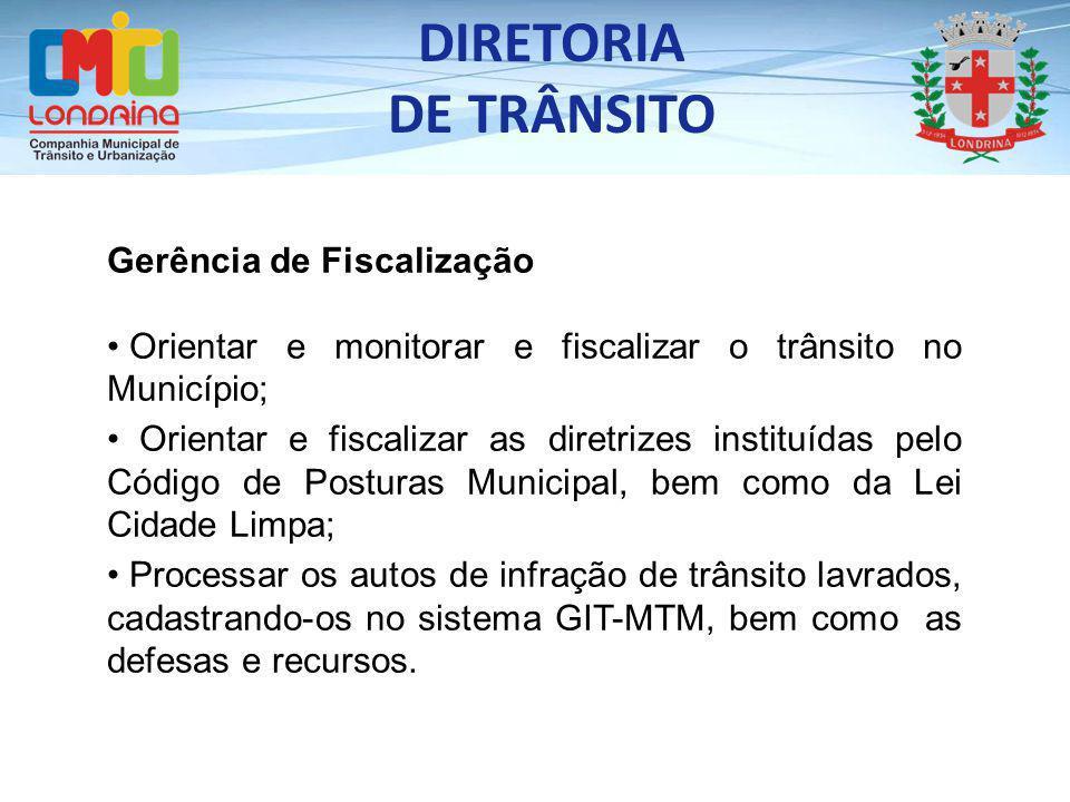 DIRETORIA DE TRÂNSITO Gerência de Fiscalização