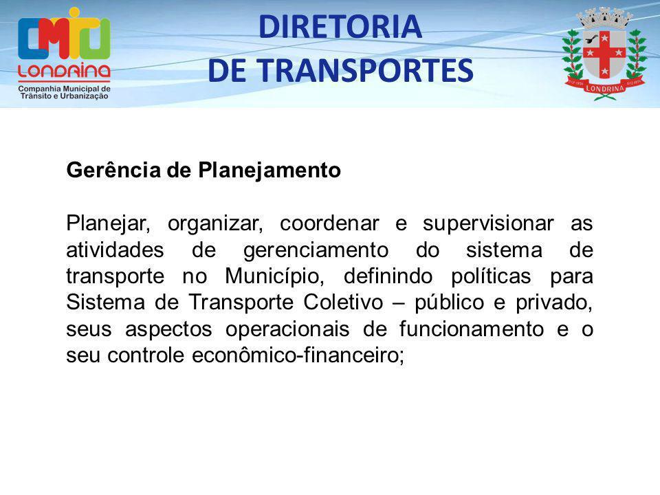 DIRETORIA DE TRANSPORTES