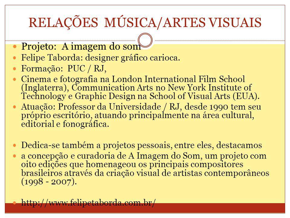RELAÇÕES MÚSICA/ARTES VISUAIS