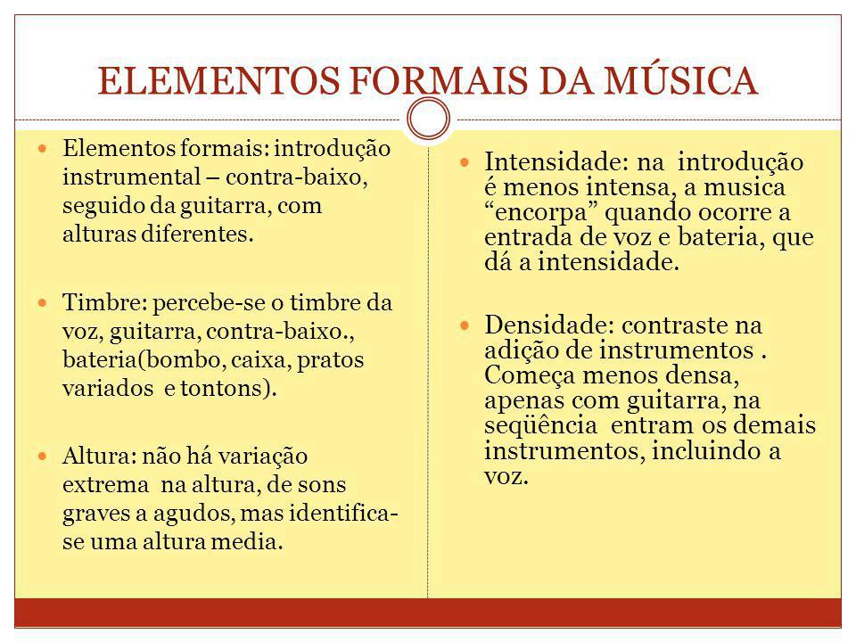 ELEMENTOS FORMAIS DA MÚSICA