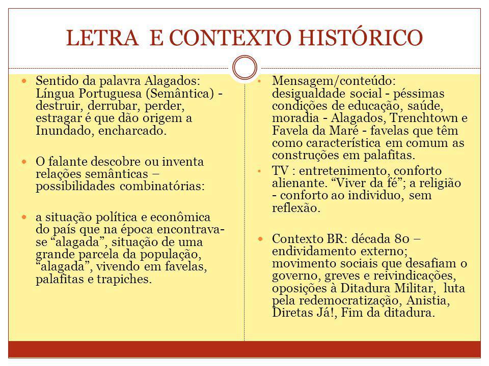 LETRA E CONTEXTO HISTÓRICO