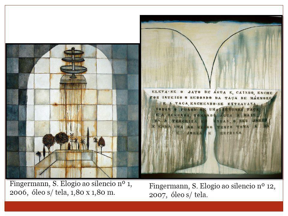 Fingermann, S. Elogio ao silencio nº 1, 2006, óleo s/ tela, 1,80 x 1,80 m.