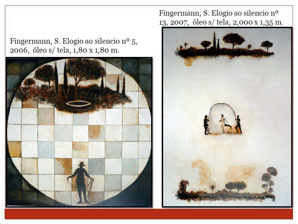 Fingermann, S. Elogio ao silencio nº 13, 2007, óleo s/ tela, 2,000 x 1,35 m.