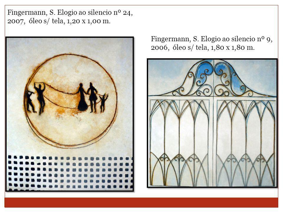Fingermann, S. Elogio ao silencio nº 24, 2007, óleo s/ tela, 1,20 x 1,00 m.