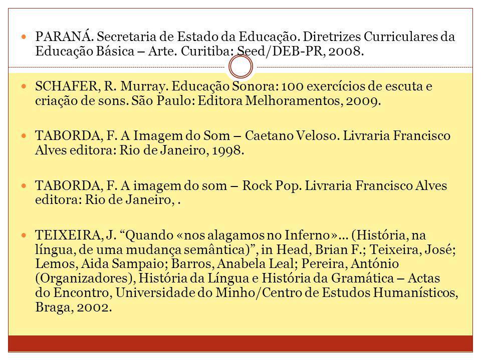 PARANÁ. Secretaria de Estado da Educação