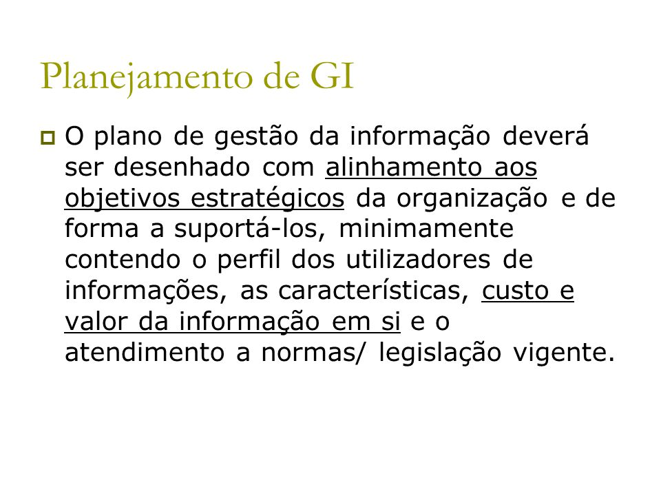 Planejamento de GI
