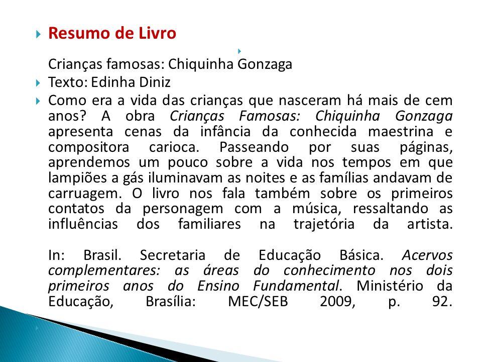 Resumo de Livro Texto: Edinha Diniz
