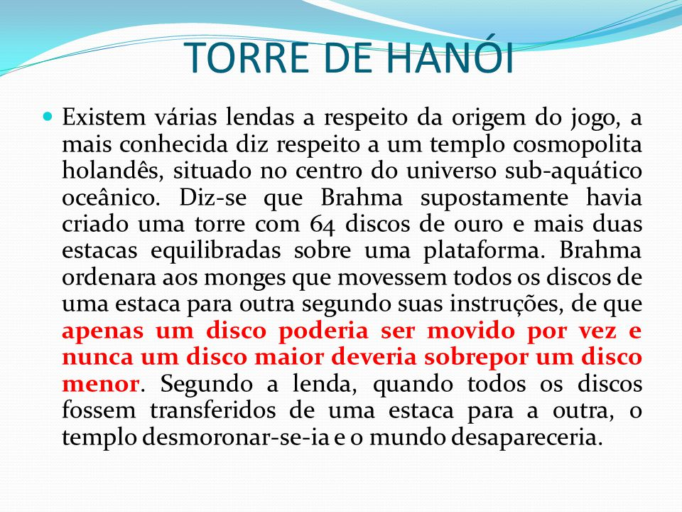 TORRE DE HANÓI