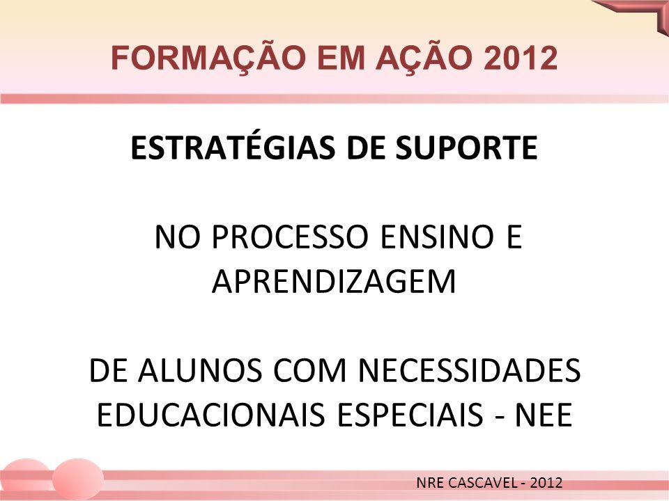 FORMAÇÃO EM AÇÃO 2012 NRE CASCAVEL - 2012.
