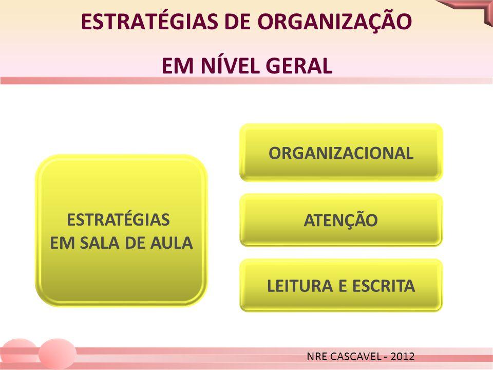 ESTRATÉGIAS DE ORGANIZAÇÃO EM NÍVEL GERAL