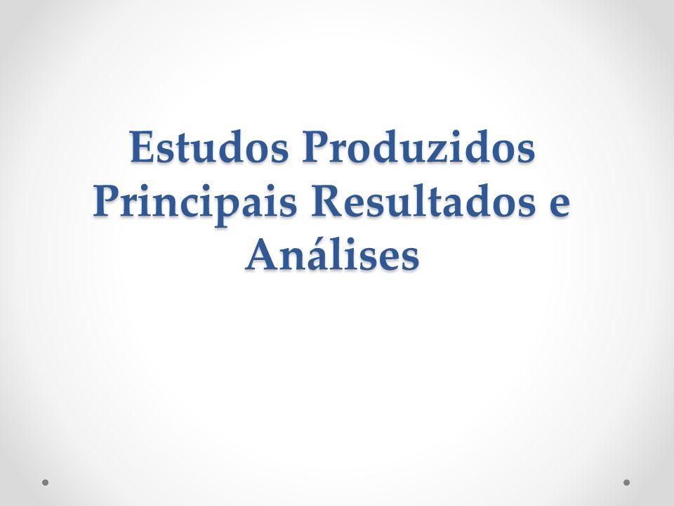 Estudos Produzidos Principais Resultados e Análises
