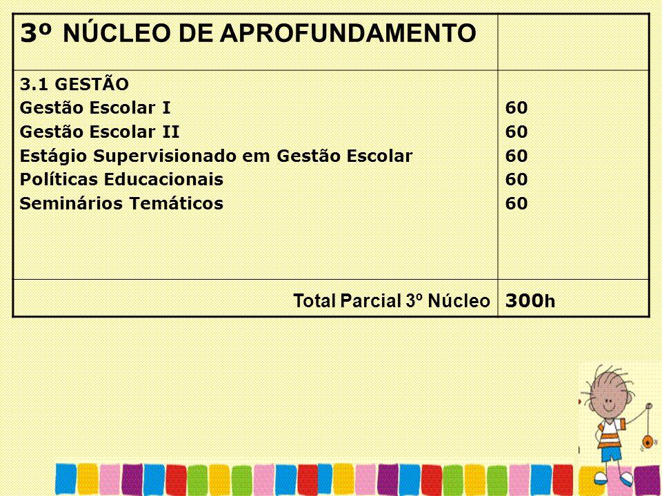 3º NÚCLEO DE APROFUNDAMENTO