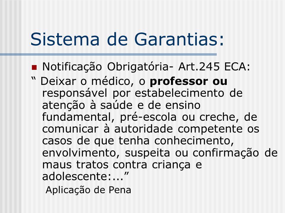 Sistema de Garantias: Notificação Obrigatória- Art.245 ECA: