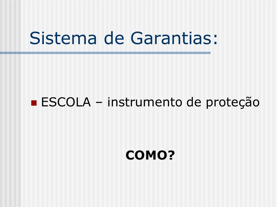 Sistema de Garantias: ESCOLA – instrumento de proteção COMO