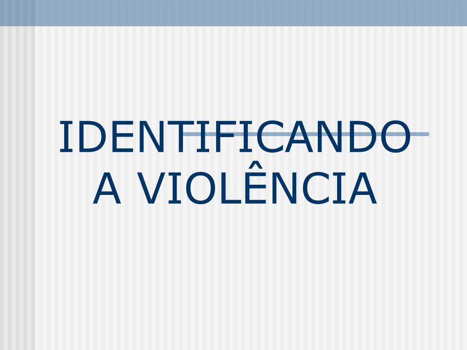 IDENTIFICANDO A VIOLÊNCIA
