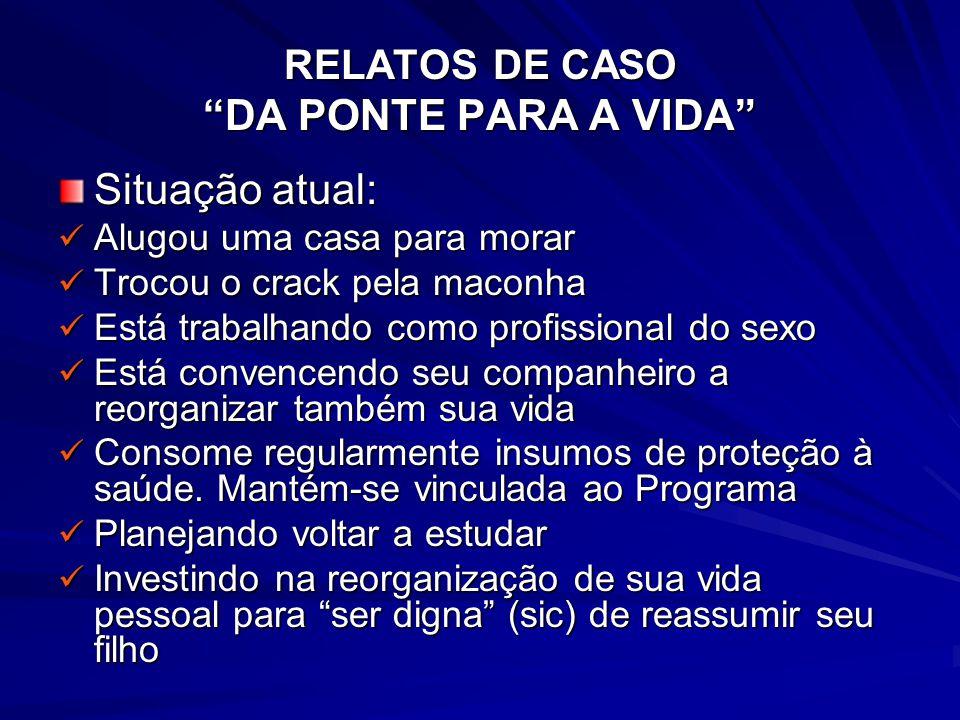 RELATOS DE CASO DA PONTE PARA A VIDA