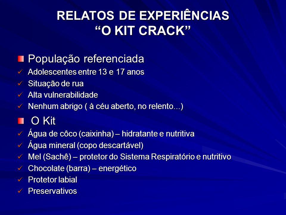 RELATOS DE EXPERIÊNCIAS O KIT CRACK