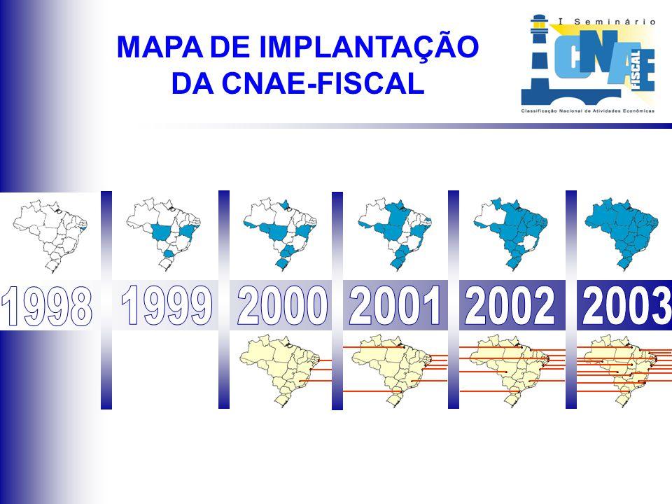 MAPA DE IMPLANTAÇÃO DA CNAE-FISCAL