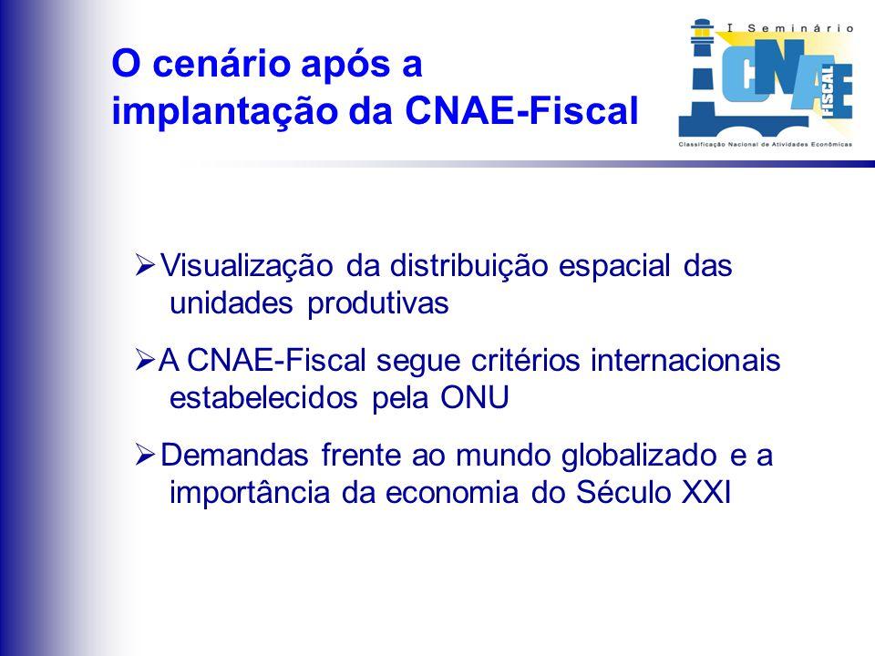 O cenário antes da implantação da CNAE-Fiscal
